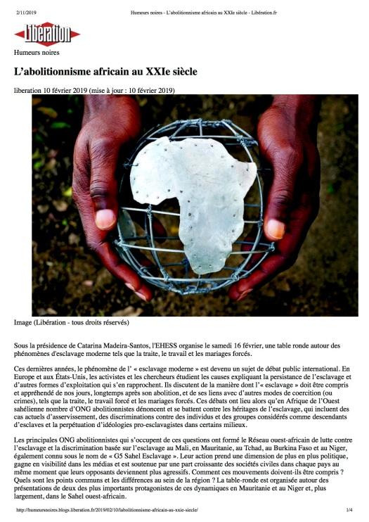 Humeurs noires - L'abolitionnisme africain au XXIe siècle - Libération.fr.jpg