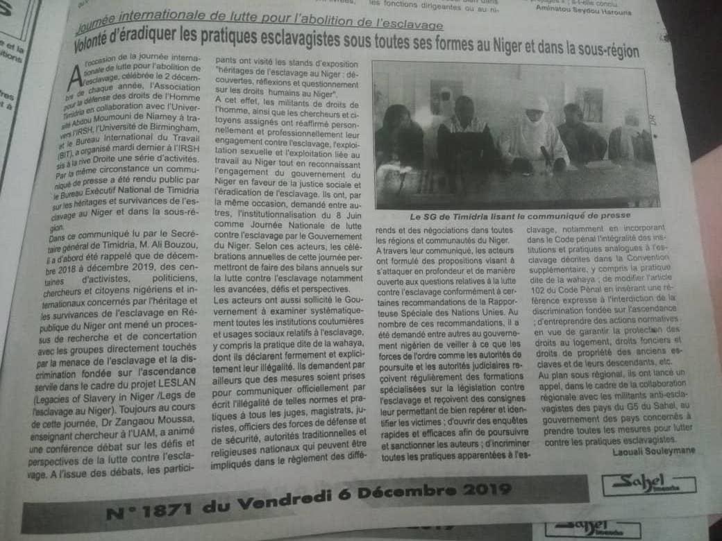 Communiqué-presse